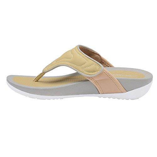 femme Slip On on Slingback Slip Plateforme Dunlop Beige Sandales qX7Px554