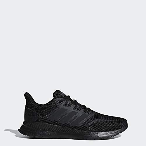 adidas Women's Falcon Running Shoe, Black/Black/Black, 8.5 M US