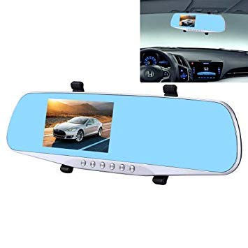 Uniqus G832 HD 1080P 4.3 inch Screen Display Rearview Mirror Vehicle DVR, Novatek 96223 Programs, 170 Degree A+ Wide Angle Viewing, Support Loop Recording Motion Detection Function