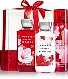 Cheap Bath & Body Works Japanese Cherry Blossom Wrapped with a Bow Gift Box Set, Shower Gel 10 Ounce, Body Lotion 8 Ounce, Fragrance Mist 8 Ounce