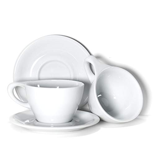 notNeutral 01501550 LINO Latte Cup & Saucer Gift, Set of 2, Large, White