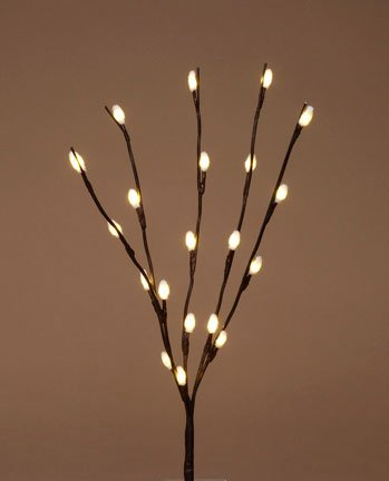 DARICE 24 Inch Pussy Willow with 20 Warm White Fuzzy LED ...