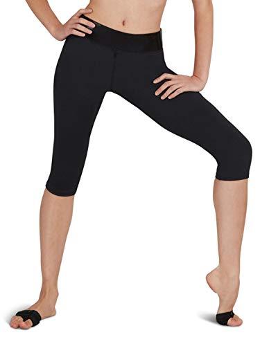 Capezio Women's Capri Workout Pants - Size Large, Black