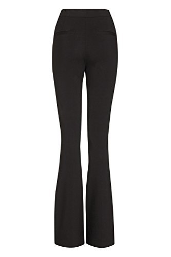 next Mujer Pantalones Rectos Corte De Bota Ponte Con Viscosa Casual Formal Negro