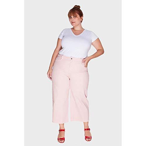 Calça Pantacourt Plus Size Rosa-56