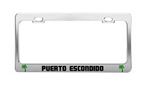 PUERTO ESCONDIDO Mexico Beach Shore Coast Fun Auto License Plate Frame - Puerto Escondido Mexico