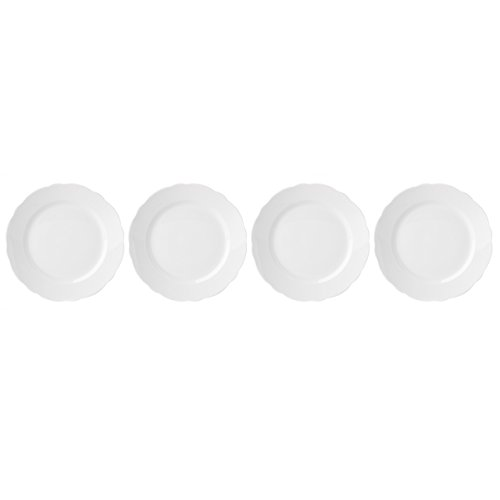 Lenox Butterfly Meadow Solid White Salad Plates (Set of 4) ()