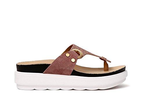 CAF Noir FA604 Flip-Flop Sandale in Puderrosa Glitter Kruste Rosa