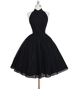 AiniDress Chiffon Prom Dress Halter Homecoming Dress Short Mini Party Dresses 2017