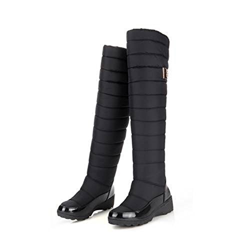 Dormery New Arrival Russia Keep Warm Snow Boots Fashion Platform Fur Over The Knee Boots Warm Winter Boots For Women Shoes Black 8