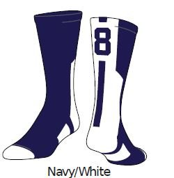 Navy/White #0 Medium (1 Sock) (Sports Authority)