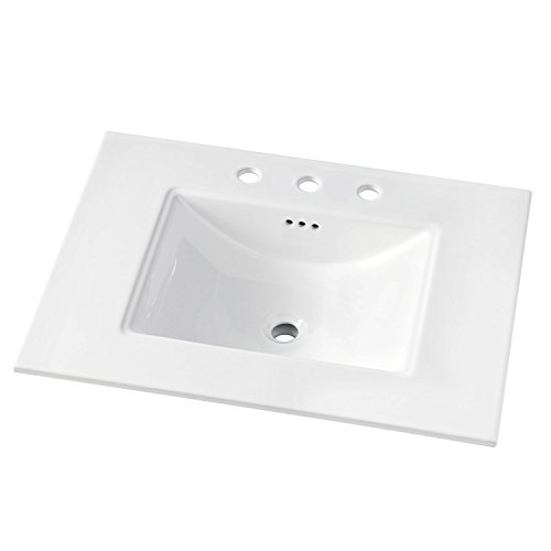 Best Price! MAYKKE Brighton 31 Ceramic Bathroom Vanity Sink Top with 8 Widespread Faucet Holes in ...