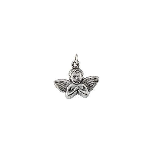 (14K White Gold 14x16mm Angel Baby Pendant)