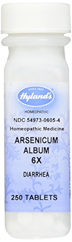 Hyland's Arsenicum Album 6X Tablets, Natural Relief of Burning Nasal Discharge or Diarrhea, 250 ()