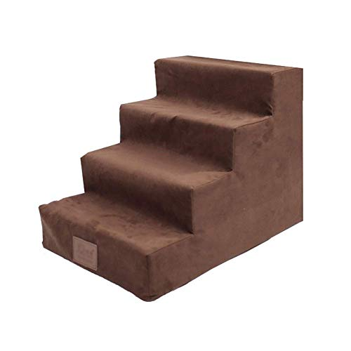 - DLINMEI Pet Stairs Small Steps Bed Slope Dog Climbing Stairs Villa Corgi Climbing Stairs Sponge Stairs