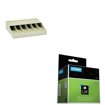 KITDYM30270MMF210470089 - Value Kit - Dymo Thermal Receipt Roll Paper (DYM30270) and MMF Bill Strap Rack (MMF210470089)