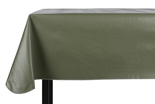 Yourtablecloth Heavy Duty Vinyl Rectangle or Square Tablecloth – 6 Gauge Heavy Duty Tablecloth – Flannel Backed – Wipeable Tablecloth with vivid colors & many sizes 52 x 70 (Flannel Back Tablecloth)