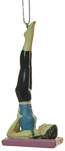 Yoga Lovers Yoga Position Christmas/Everyday Ornament (Shoulder Stand (3.5