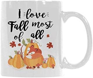 Thanksgiving Pumpkin Spice Sweater Weather Fall Coffee Cup Happiness Is Coffee 11oz Mug Autumn Lover Gift Cups Mugs Saucers Mugs