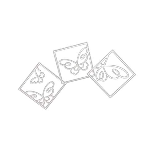 POQOQ Cutting Dies Scrapbooking Paper Card Metal Die Cut Stencils #190313B, Accessories for Big Shot and Other Cutter Machine(C)