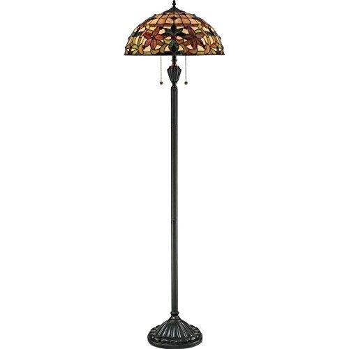 Quoizel TF878F Kami Flower Tiffany Floor Lamp, 2-Light, 200 Watts, Vintage Bronze (62