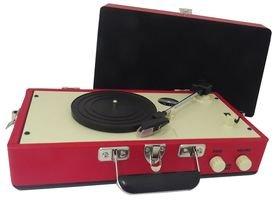 * Vinyl 3 Velocidad tocadiscos portátil Retro Steepletone * Modelo: * SRP025 Rojo