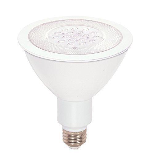 (Case of 6) Satco S9092 17 Watt (90 Watt) 1200 Lumens PAR38 LED Warm White 3000K 25 Beam Ditto Light Bulb, Dimmable - Satco Light Bulb Color Reflector