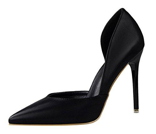 Minetom Col Nero Sera Scamosciato Sandali Donna Partito Di Scarpe Tacco Semplice Elegante Stiletto Scarpe Pump Shoes Tq1UTrWH