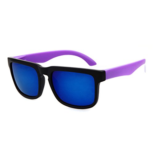 LOMOL Trendy Fashion Young People Personality Colorful UV400 Protection Beach Sunglasses(C1)