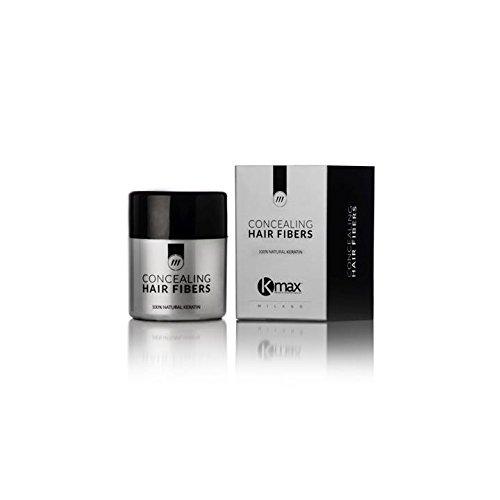 K-Max 12.5 G NOIR Poudre de Cheveux 100% Naturelle – Donne du Volume, Masque l'alopécie