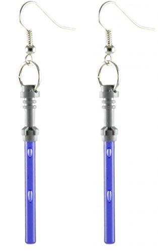 (LEGO Lightsaber Earrings Star Wars Purple Jewelry)
