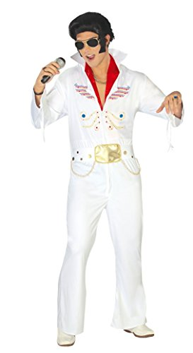 Mens 50's King Music Celebrity 1950s Famous Person Pop Star Fancy Dress Costume Outfit -