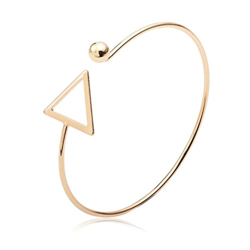 Willsa Simplicity Triangle Design Trendy Armlet Armband Bracelet Bangle (Gold)