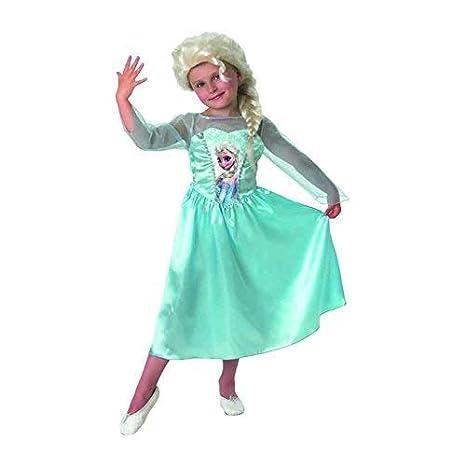 Frozen - Disfraz Elsa Classic con peluca, para niños, 3-4 años (