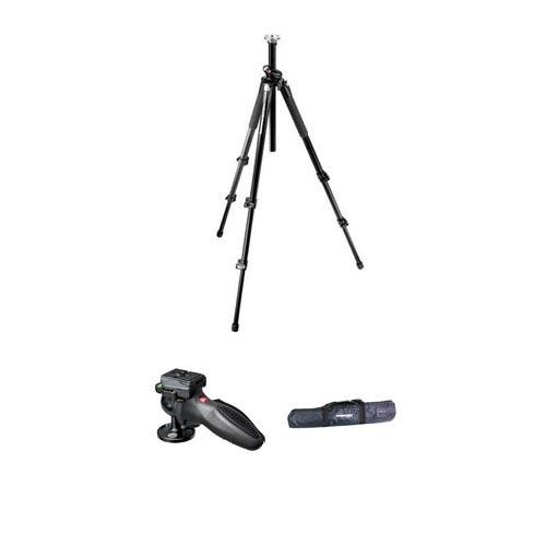Manfrotto 055XPRO3 Black Tripod Kit, with 324RC2 Lightweight