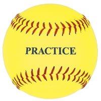 Practice Softball, Yellow, 12-Inch (One Dozen)