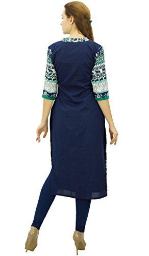 Marin Kurta Droite Femme Robe Kurti Phagun Montant Bleu Col Ethnique qOTz0vwxR