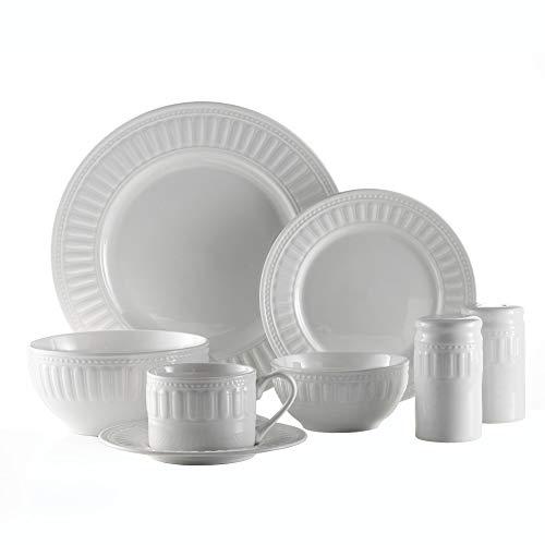 American Atelier 6377-50-RB Sparta 50 Piece Round Dinnerware Set, 10.5x10.5