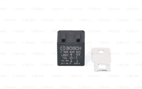 Bosch 0986ah0605 Mini Relais 12v 20a Ip5k4 Betriebstemperatur Von 40 C Bis 100 C Schließer Relais 5 Pins 2x87 Auto