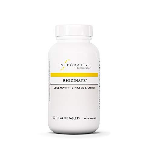 Integrative Therapeutics - Rhizinate - Deglycyrrhizinated Licorice (DGL) - Original Licorice Flavor - 100 Chewable Tablets