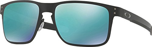 Oakley Men's Holbrook Metal Non-Polarized Iridium Square Sunglasses, Matte Black, 55 - Usa Holbrook