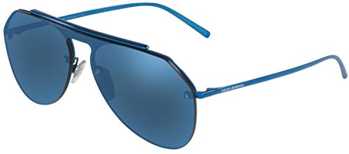 Dolce & Gabbana Men's DG2213 Blue/Dark Blue Mirror One Size (Dolce Und Gabbana Herren Aviator Sonnenbrille)