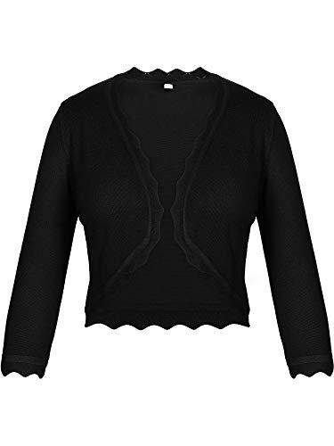 Women's 3/4 Sleeve Open Front Shrug Cardigan Knit Cropped Bolero Shrug S-XXL