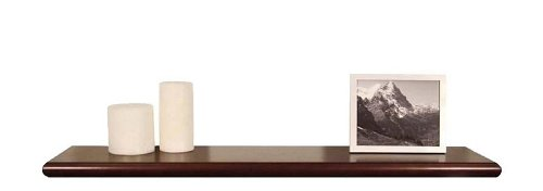 """36""""W Wall Mounted Shelf with Beveled Edge in Espresso Finish"""