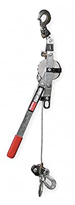 Ratchet Puller, 1000/2000 lb. Lifting Capacity, 15 ft. Cable Length