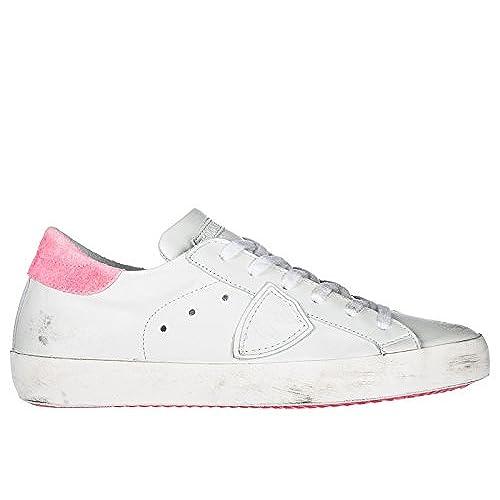 dcd9adbda Philippe Model Zapatos Zapatillas de Deporte Mujer EN Piel Nuevo Paris  Blanco Lovely