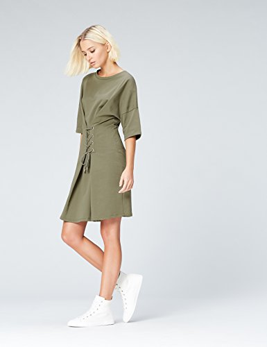 Vert Dusty Robe Lace Olive Up FIND Femme wgaZBWqnUI