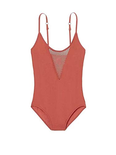 Victoria's Secret Pink Mesh Seamless Tank Bodysuit Color Soft Begonia X-Small NWT