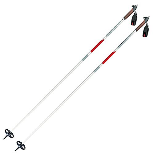 Alpina Sports ASC-XT Back-Country Cross-Country Nordic Ski Poles with Round Baskets, 130cm, Pr.