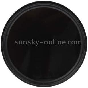 Lens Filter Black 58mm ND Fader Neutral Density Adjustable Variable Filter ND 2 to ND 400 Filter
